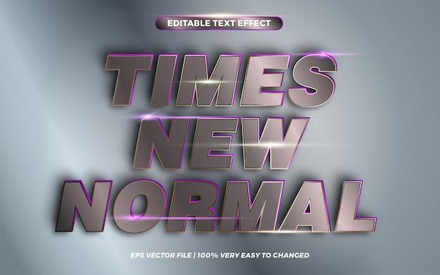 Keer nieuwe normale woorden, teksteffect stijlconcept