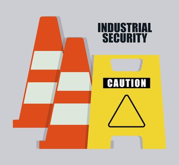 Kegel en verkeersbord pictogram