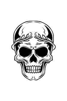 Keizer schedel vectorillustratie