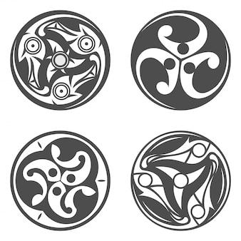 Keltisch spiraalvormig ornament geometrische illustratie