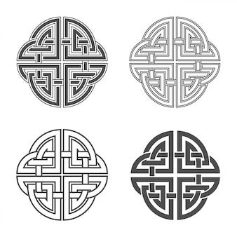 Keltische knoop etnisch ornament