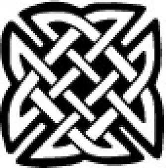 Keltische platte knoop