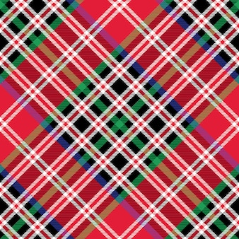 Kemp tartan stof textuur check diagonaal patroon naadloos