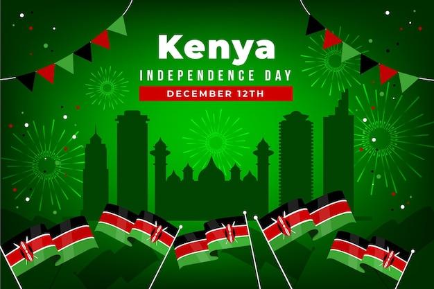 Kenia onafhankelijkheidsdag plat ontwerp