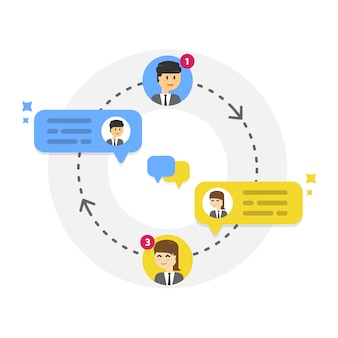 Kennisgeving van nieuwe chatberichten, sociaal netwerk, nieuws, tekstballonnen