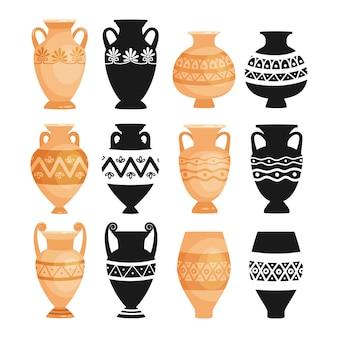 Keramische oude aardewerkvoorwerpen