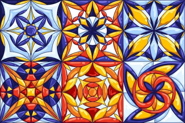 Keramische tegelpatroon. decoratieve abstracte achtergrond.