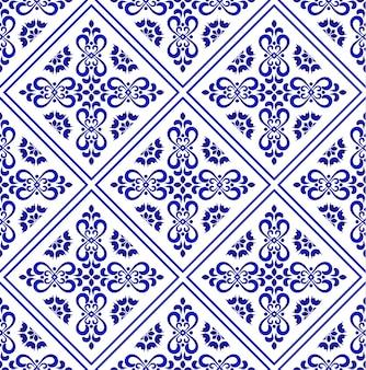 Keramische tegelpatroon, porselein decoratieve achtergrondontwerp