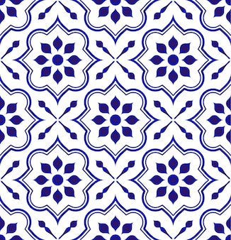 Keramische tegelpatroon, porseleinen decoratieve achtergrond