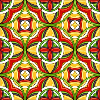 Keramische tegelpatroon. prachtig naadloos patroon.