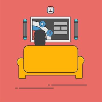 Kerel tv kijken