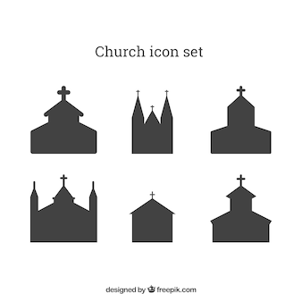 Kerk icon set