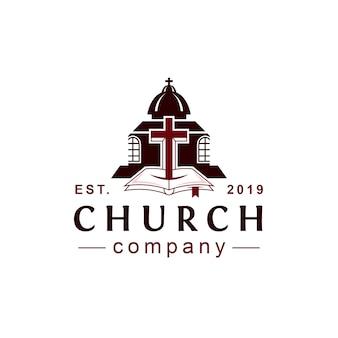 Kerk klassieke stijl logo