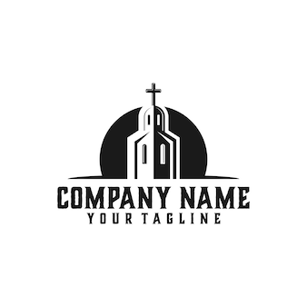 Kerk logo sjabloon