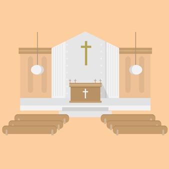 Kerkelijke achtergrond ontwerp