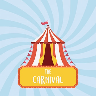 Kermis carnaval tent vlag recreatie entertainment