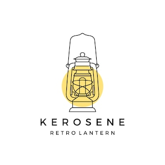 Kerosine retro lantaarn logo