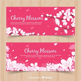 Kersenbloesem banners