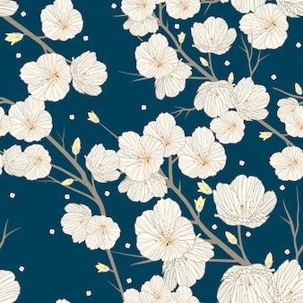 Kersenbloesem naadloze patroon