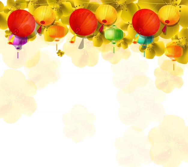 Kersenbloesem voor chinees nieuwjaar en nieuw maanjaar