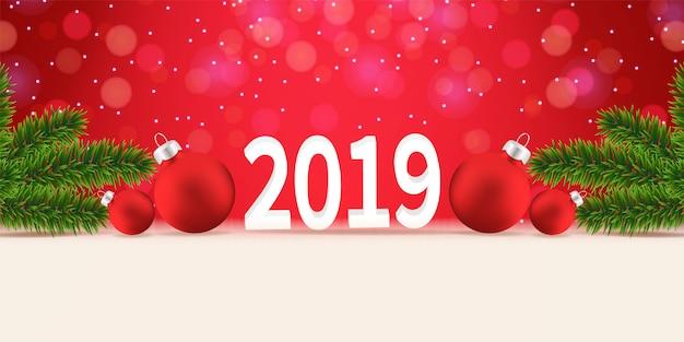 Kerst 2019 achtergrond vector
