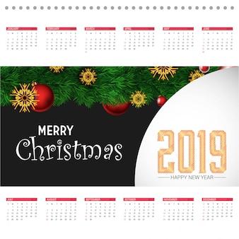 Kerst 2019 kalenderontwerp