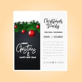 Kerst 2019 partij poster sjabloon