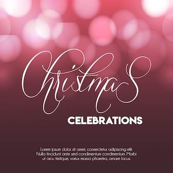 Kerst 2019 vieringen gloeiende achtergrond