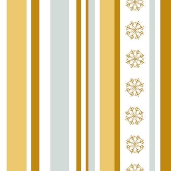 Kerst abstract naadloos patroon gouden en zilveren verticale strepen en sneeuwvlokken