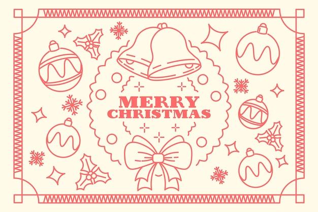Kerst achtergrond concept in kaderstijl