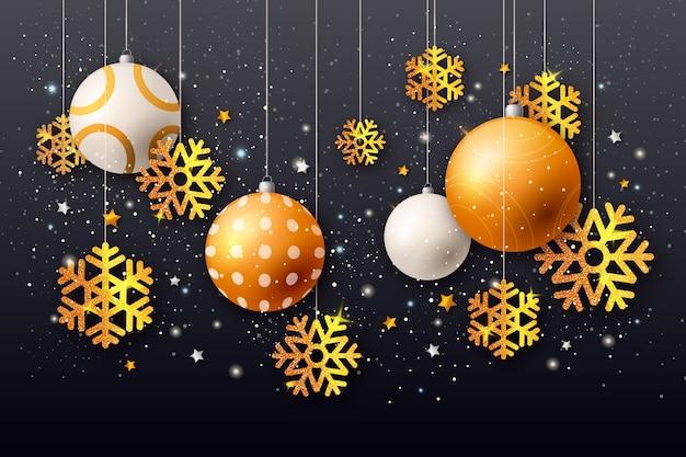 Kerst achtergrond concept met glitter effect