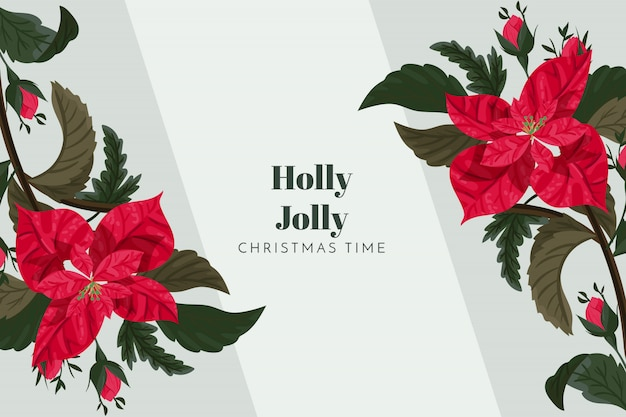 Kerst achtergrond holly jolly