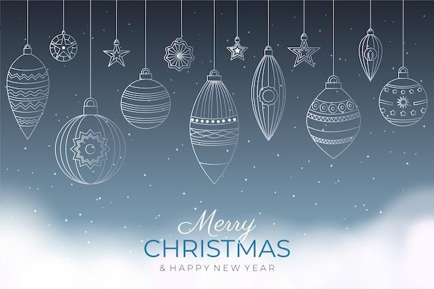 Kerst achtergrond in kaderstijl