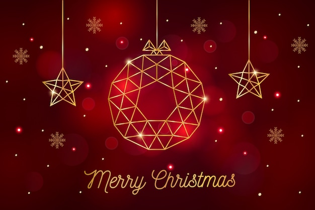 Kerst achtergrond in veelhoekige stijl