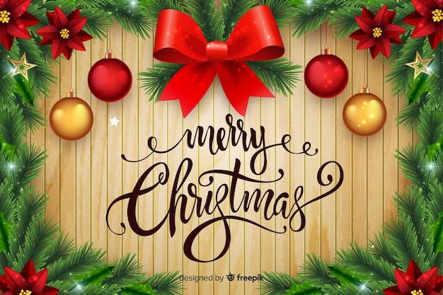 Kerst achtergrond in vintage stijl