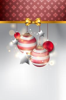 Kerst achtergrond. kerst ornament en frame