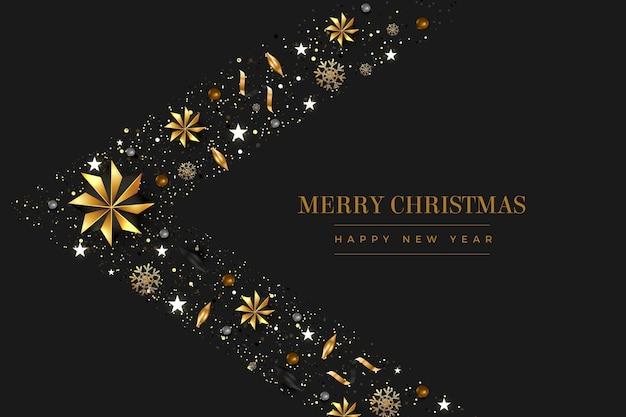 Kerst achtergrond met decoratie