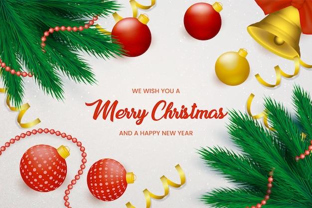 Kerst achtergrond met decoratieve ballen