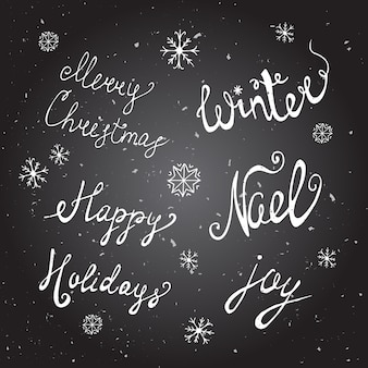 Kerst achtergrond met doodle pictogrammen.