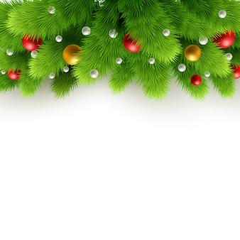 Kerst achtergrond met fir tree