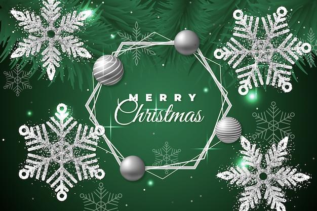 Kerst achtergrond met glitter effect
