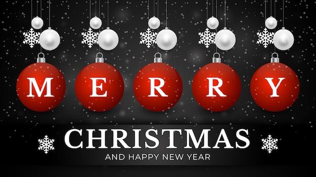 Kerst achtergrond met gloeiende stippen licht witte bellen sneeuwvlokken