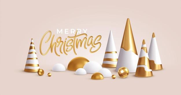 Kerst achtergrond met kerst ornamenten
