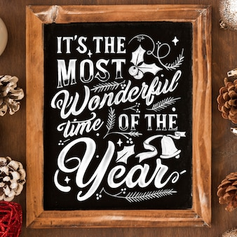 Kerst achtergrond met letters