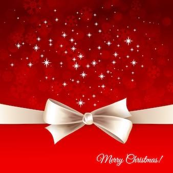 Kerst achtergrond met lint en boog