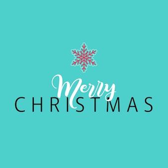 Kerst achtergrond met minimalistisch design