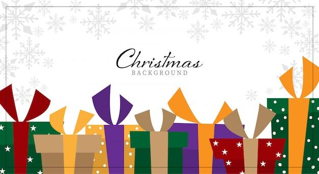 Kerst achtergrond met presenteert