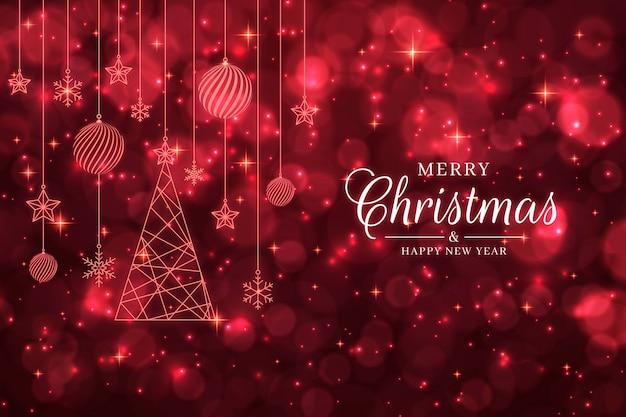 Kerst achtergrond met rode glitter