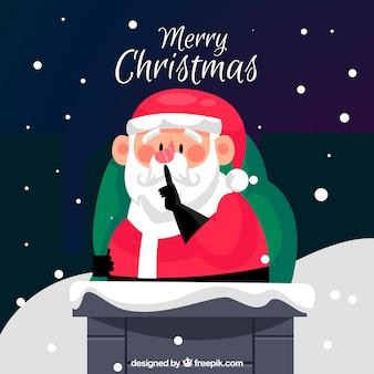 Kerst achtergrond met santa clauss