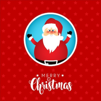 Kerst achtergrond met schattige kerst ontwerp